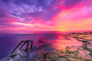 spain, sunset, sky